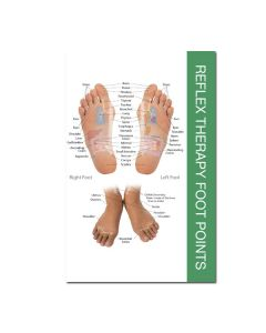 """Mini Reflex Points for Foot and Hand Chart (8½"""" x 5½"""")"""