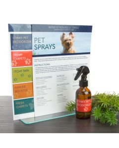 """""""Pet Sprays"""" Make-It-Yourself Recipes and Label Set"""