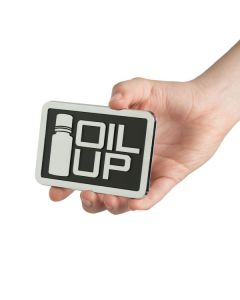 "Rectangle ""Oil Up"" Car Decal (4"" x 2⅔"")"