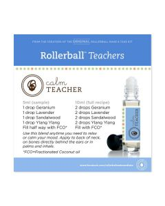 """Rollerball """"Teachers"""" Happy and Calm Label Set (Sheet of 12)"""