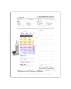 "Rollerball ""Babies & Mamas"" Recipe Sheets (Pack of 25)"