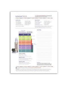 "Rollerball ""Kids"" Recipe Sheets (Pack of 25)"