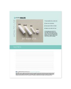 """""""Aroma Inhalers"""" Recipe Sheets (Pack of 25)"""