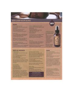 """Bath and Body Using Essential Oils"" Recipe Tear Pad (25 Sheets)"