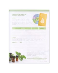 """Finding Solutions for Everyday Problems: Answers in Aromatherapy"" Tear Pad (50 Sheets)"