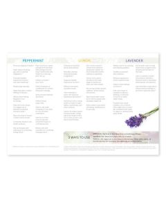 """How to Use Essential Oils: Peppermint, Lemon, and Lavender"" Brochure (Pack of 25)"