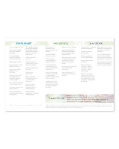 """How to Use Essential Oils: Peppermint, Melaleuca, and Lavender"" Brochures (Pack of 25)"