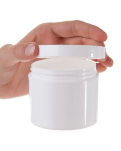 4 oz. Straight-Sided Plastic Salve Container with Smooth Lid