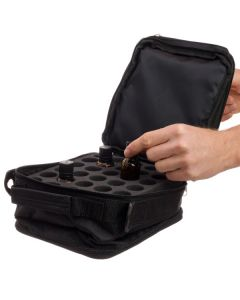 Black Multi-size Bottle Carrying Case (Holds 91 Vials)