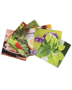 Essential Oil Word Mosaics and Photo Art Cards (Pack of 6)