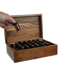 doTERRA Branded Acacia Wood Essential Oils Box (Holds 40 Vials)