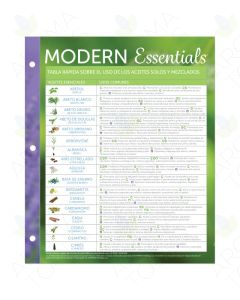 "Spanish ""Modern Essentials: Essential Oils and Blends Quick Usage"" Binder Chart, 11th Edition"