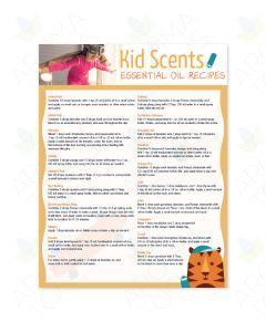 "Essential Educators ""Kid Scents Essential Oil Recipes"" Chart"