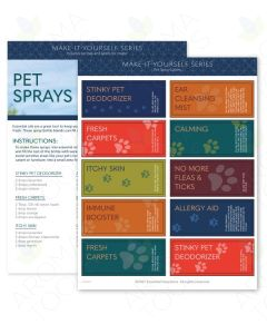 """Pet Sprays"" Make-It-Yourself Recipes and Label Set"
