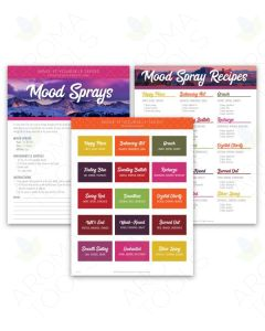 """Mood Sprays"" Make-It-Yourself Recipes and Label Set"