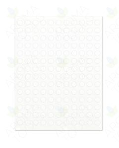 "Blank White Circle Laser Printer Labels: 1/2"" (Sheet of 154)"