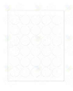"Blank White Circle Laser Printer Labels: 1-1/2"" (Sheet of 30)"