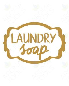 Gold Laundry Soap Vinyl Label
