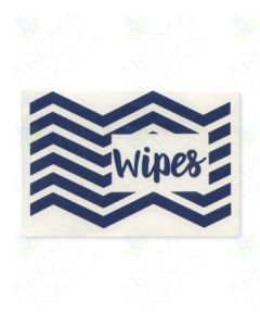 Navy Blue Wipes Vinyl Label
