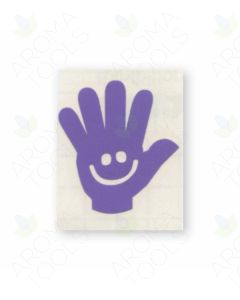 Lavender Happy Hands Vinyl Label