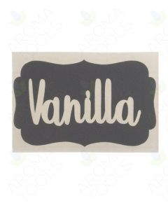Gray Vanilla Vinyl Labels (Sheet of 3)