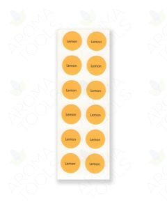 Circle Labels for doTERRA Sample Vials (Sheet of 12)