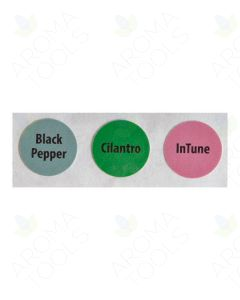 Circle Label Set #15: Black Pepper, Cilantro, and InTune (3 Labels)