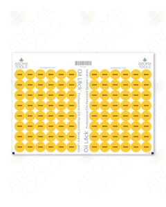 Oil Lock Circle Labels for Sample Vials (Sheets of 96)