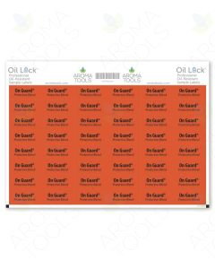 Oil Lock Rectangle Labels for doTERRA Sample Vials (Sheet of 48)