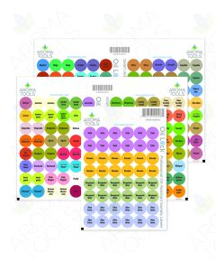 Oil Lock Circle Labels for Sample Vials of All doTERRA Oils and Blends, Sept. 2020 (Sheet of 240)