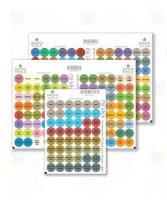 Oil Lock Circle Labels for Sample Vials of All doTERRA Oils and Blends, June 2021 (Sheet of 240)