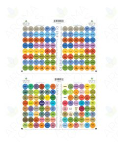 Oil Lock Circle Labels for Sample Vials of All Australian doTERRA Oils and Blends (Set of 192)