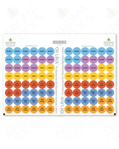 Oil Lock Circle Labels for Sample Vials of 6 Most Popular Oils and Blends (Set of 96)