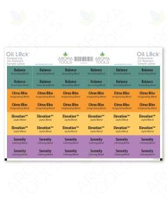 Oil Lock Sample Vial Rectangle Labels for Mood Management Oils (Set of 48)