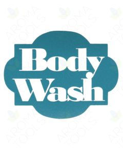 Body Wash Vinyl Label