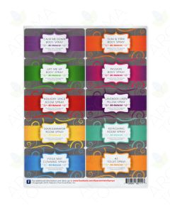 Do-It-Yourself Essential Oil Spray Labels—Assorted (Sheet of 10)