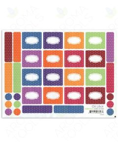Polka Dot Oil Lock™ Labels and Lid Stickers for 1/3 oz. Roll-on Vials (Set of 33)