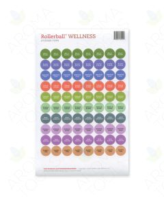 "Rollerball ""Wellness"" Sticker Tops Set (Sheet of 88)"