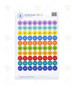 "Rollerball ""Kids"" Sticker Tops Set (Sheet of 88)"