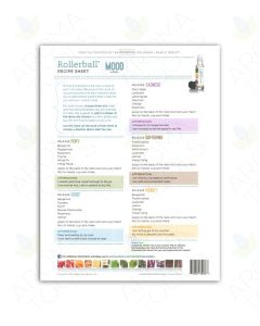 """Rollerball """"Mood Series"""" Recipe Sheets (Pack of 25)"""