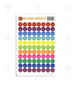 """Rollerball Mentality"" Lid Stickers (Sheet of 88)"