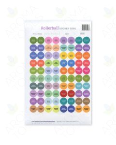 Assorted Rollerball Kits Sticker Tops Set (Sheet of 88)