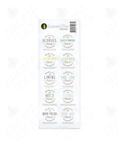 """Green and Clean"" Assorted Waterproof Label Set (Sheet of 10)"