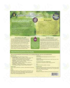 """Green and Clean with Essential Oils"" Recipe Tear Pad (25 Sheets)"