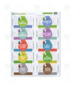 """Green Cleaning"" Assorted Label Set (Sheet of 10)"