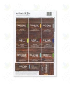 "Rollerball ""Men"" Labels (Sheet of 11)"
