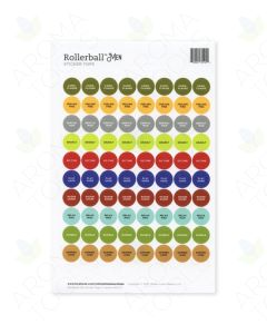 "Rollerball ""Men"" Lid Stickers (Sheet of 88)"