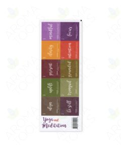 """Yoga and Meditation"" Labels (Sheet of 10)"