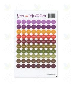 """Yoga and Meditation"" Lid Stickers (Sheet of 88)"