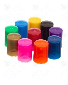 Colored Lids for 1/6 and 1/3 oz. Roll-on Vials (Pack of 10)